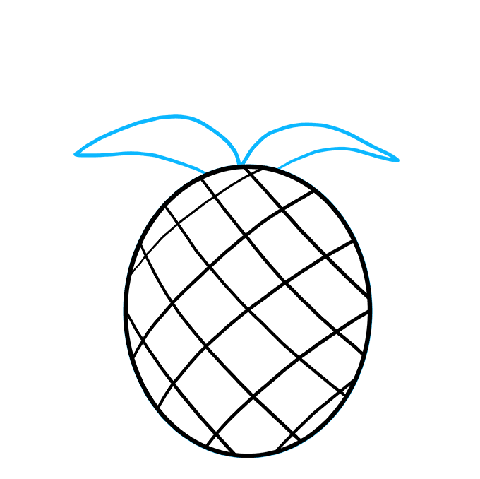 clip transparent library Pineapples drawing. How to draw a