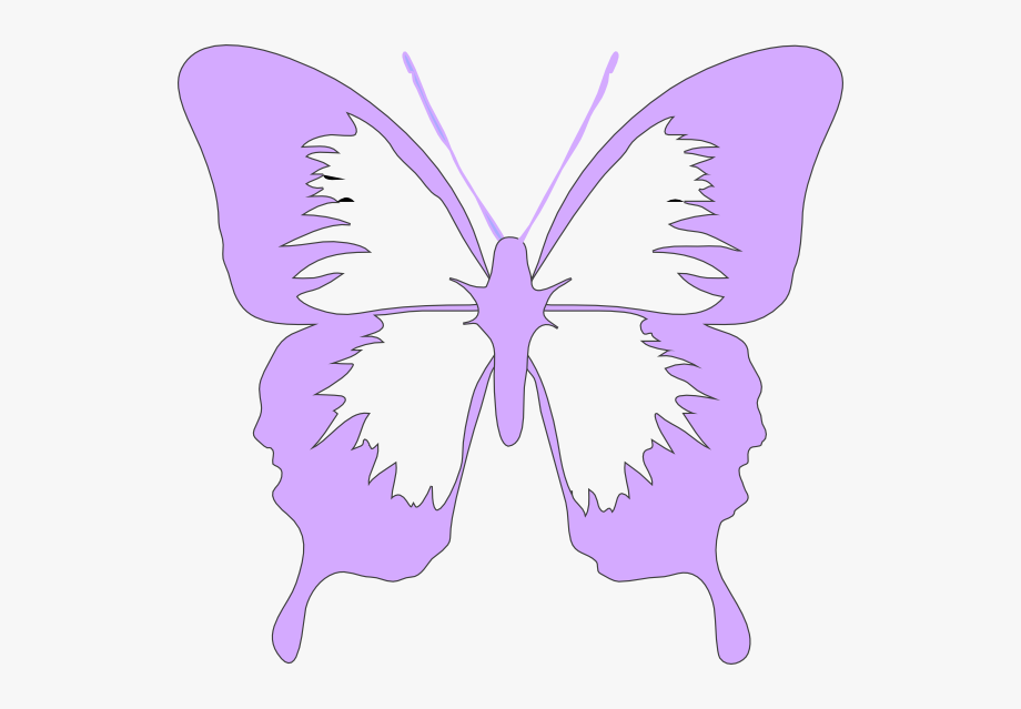 black and white library Pink and purple butterfly clipart. .