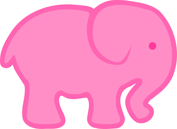 vector royalty free stock Pink Pink Elephant Clip Art at Clker