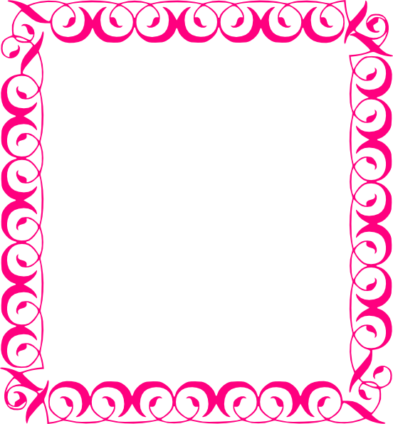picture transparent library Pink borders clipart. Floral stylish border clip