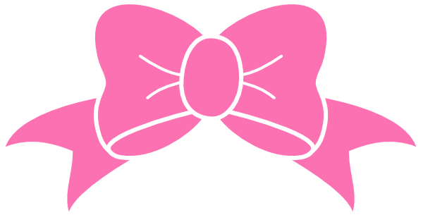picture Hot Pink Bow Clip Art at Clker