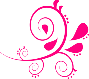 royalty free download Swirl paisley clip art. Pink clipart.