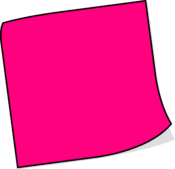 image freeuse library Clip art at clker. Pink clipart sticky note