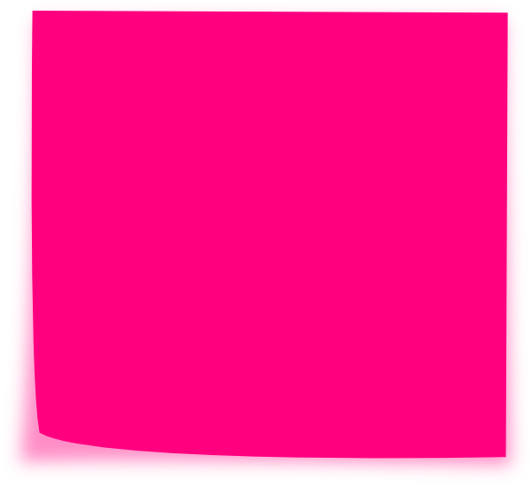 graphic stock Clip art at clker. Pink clipart sticky note