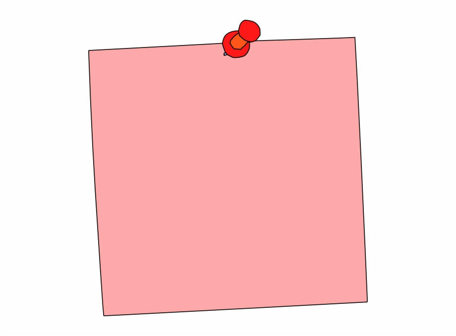 svg Transparent png download for. Pink clipart sticky note