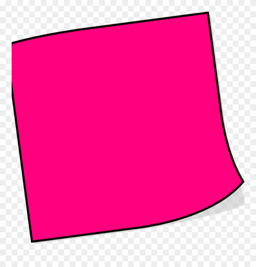 clip library stock Pink clipart sticky note. Notes