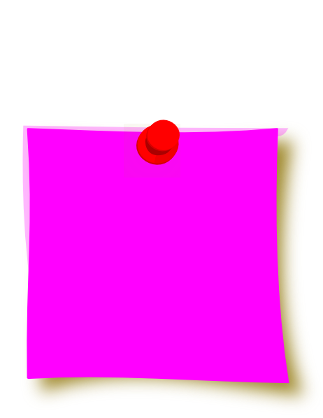 banner free New clip art at. Pink clipart sticky note