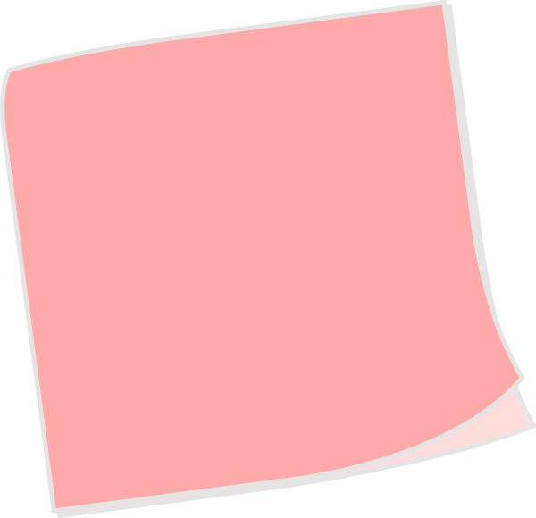 svg royalty free Pink clipart sticky note. Clip art at clker
