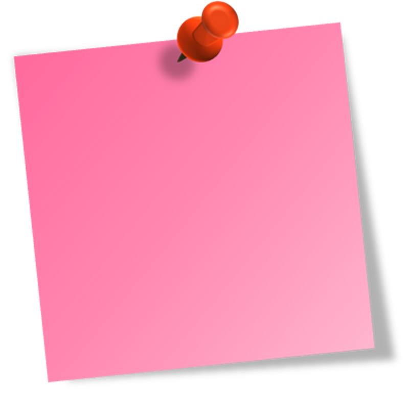 image freeuse stock Pink clipart sticky note. Post it recherche google