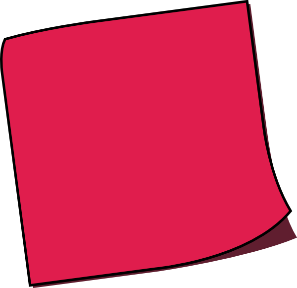 vector royalty free stock Off red clip art. Pink clipart sticky note