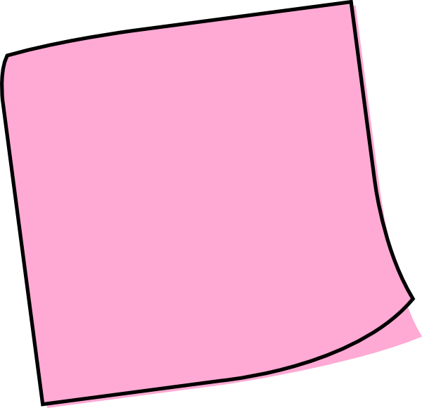 image freeuse library Pink clipart sticky note. Clip art at clker