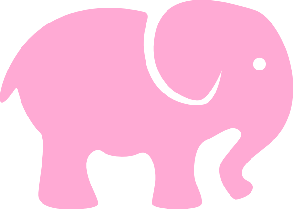 png transparent library Light Pink Elephant Clip Art at Clker