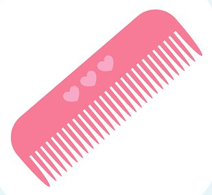 svg transparent download Pink hair brush clipart. Free comb cliparts download