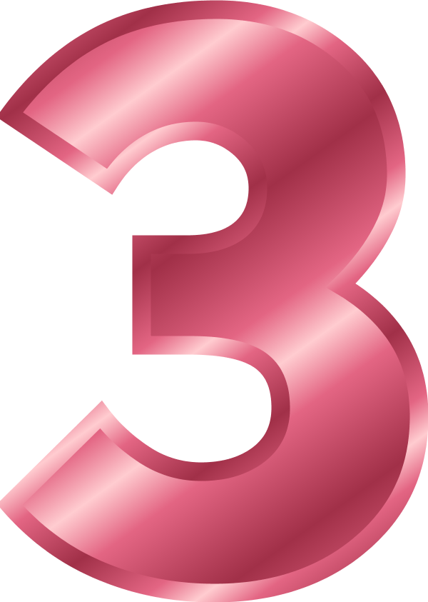 vector royalty free pink number 3 clipart #56492389