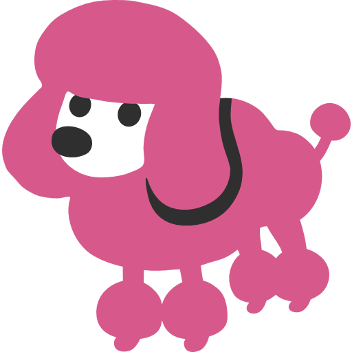 picture black and white download Poodle Emoji for Facebook