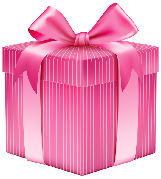 picture transparent download Pink Striped Gift Box PNG Clipart Picture