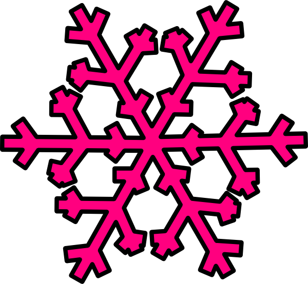 png transparent Pink Snowflake Clip Art at Clker
