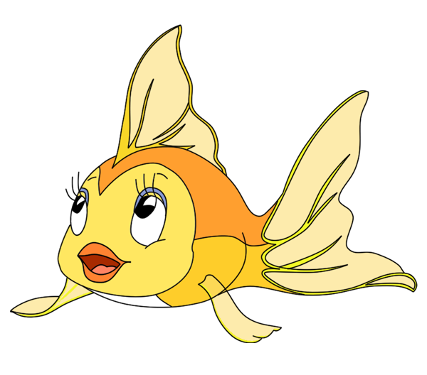 vector library library Pinocchio drawing cleo. Fantail figaro fish gold
