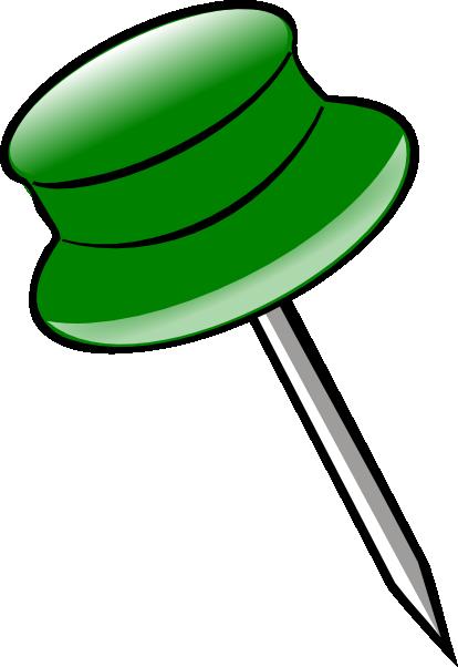 svg library Green pin clip art. Pins clipart.