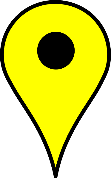 picture freeuse stock Map Pin Yellow Clip Art at Clker