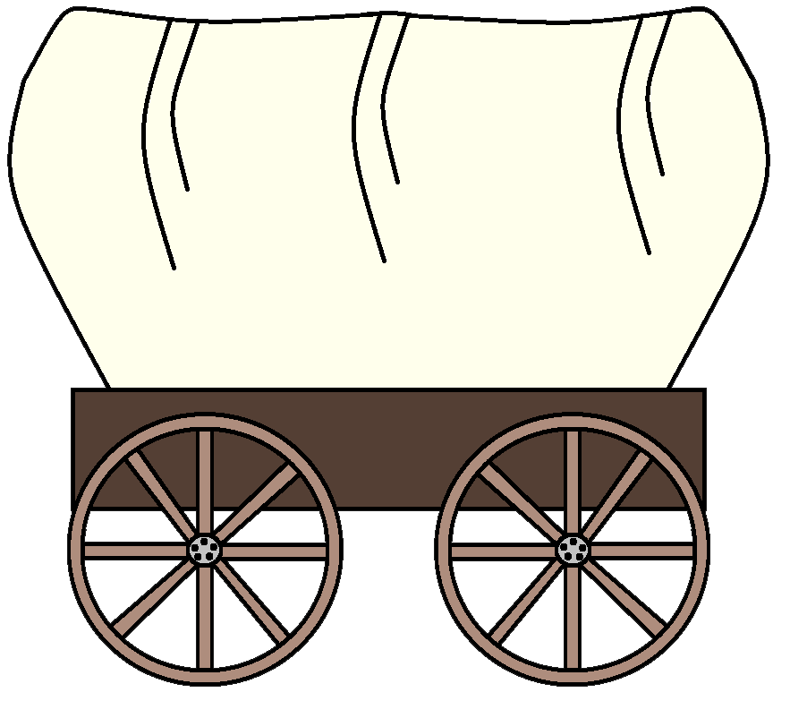 jpg library library Pioneer happy free on. Western wagon clipart