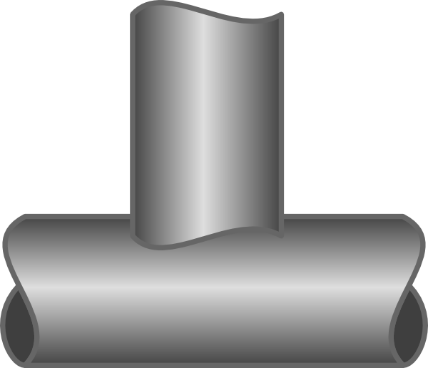 clipart freeuse Art at clker com. V clip metal pipe