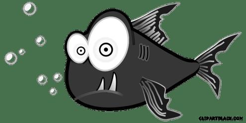 clip Piranha drawing pencil. Clipart download wallpaper full.