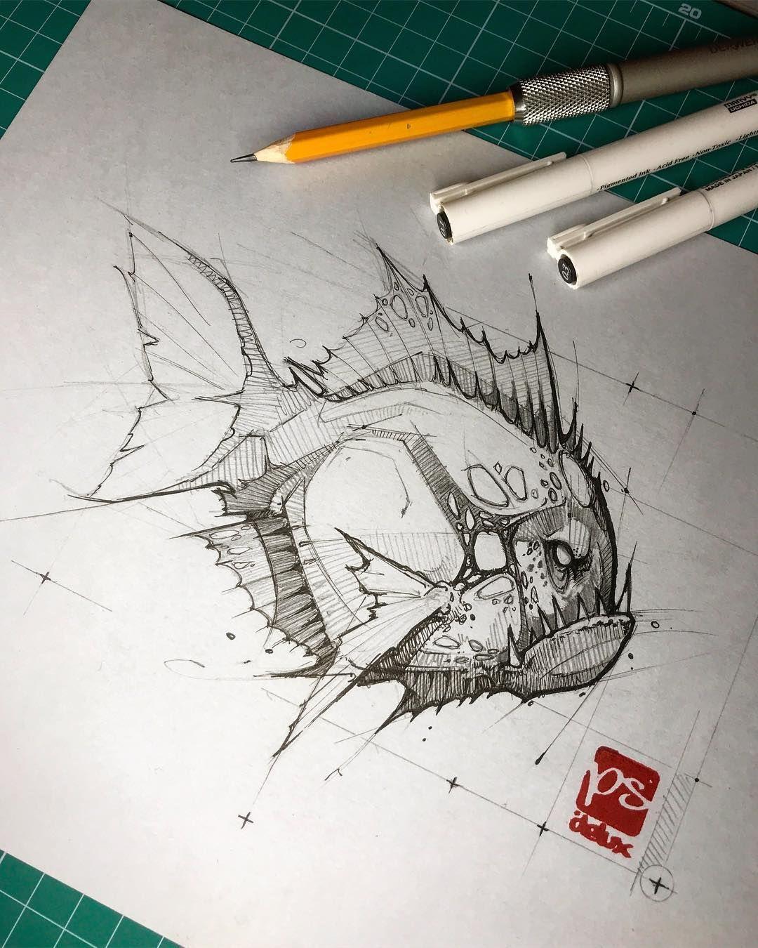 download Piranha drawing pencil. Pin on ilustraciones .