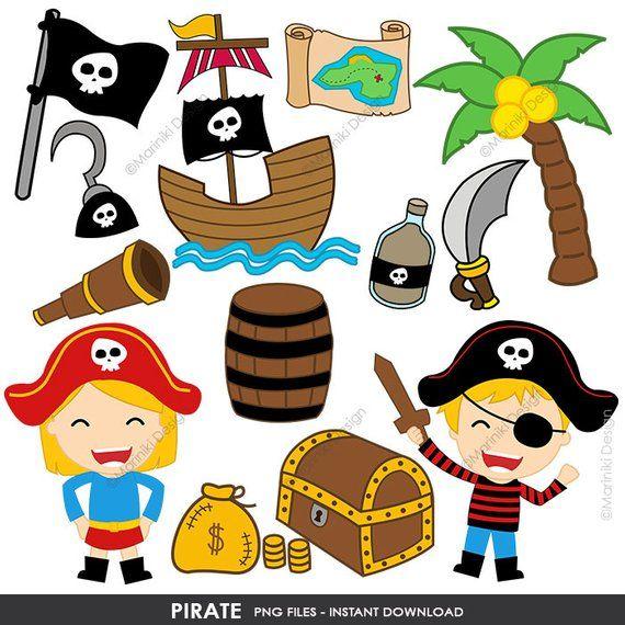 clip free download Cute pirates clip art. Pirate clipart.