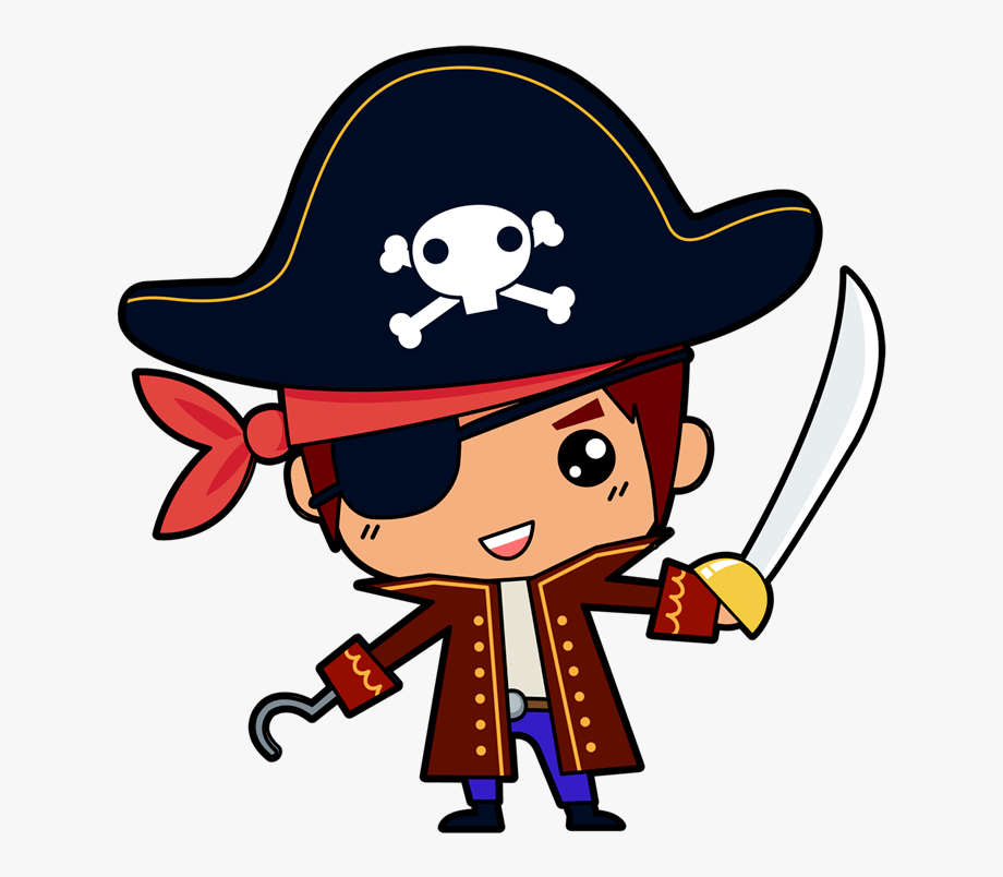 vector transparent stock Pirates clipart. Baby pirate png free
