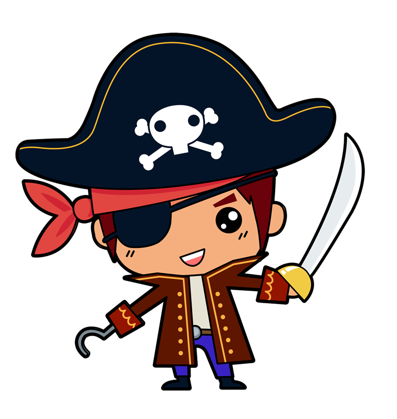vector free download This is cute little. Pirate clipart.