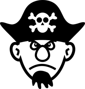 picture black and white download Angry Young Pirate Clip Art at Clker