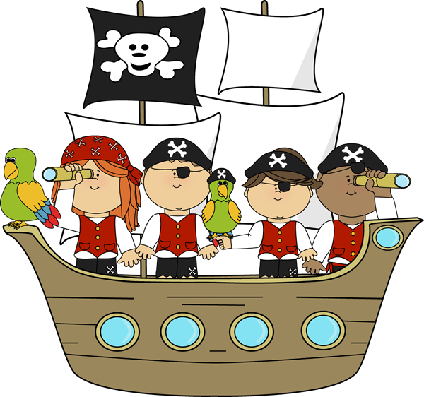 svg free Cute pirate on ship. Pirates clipart