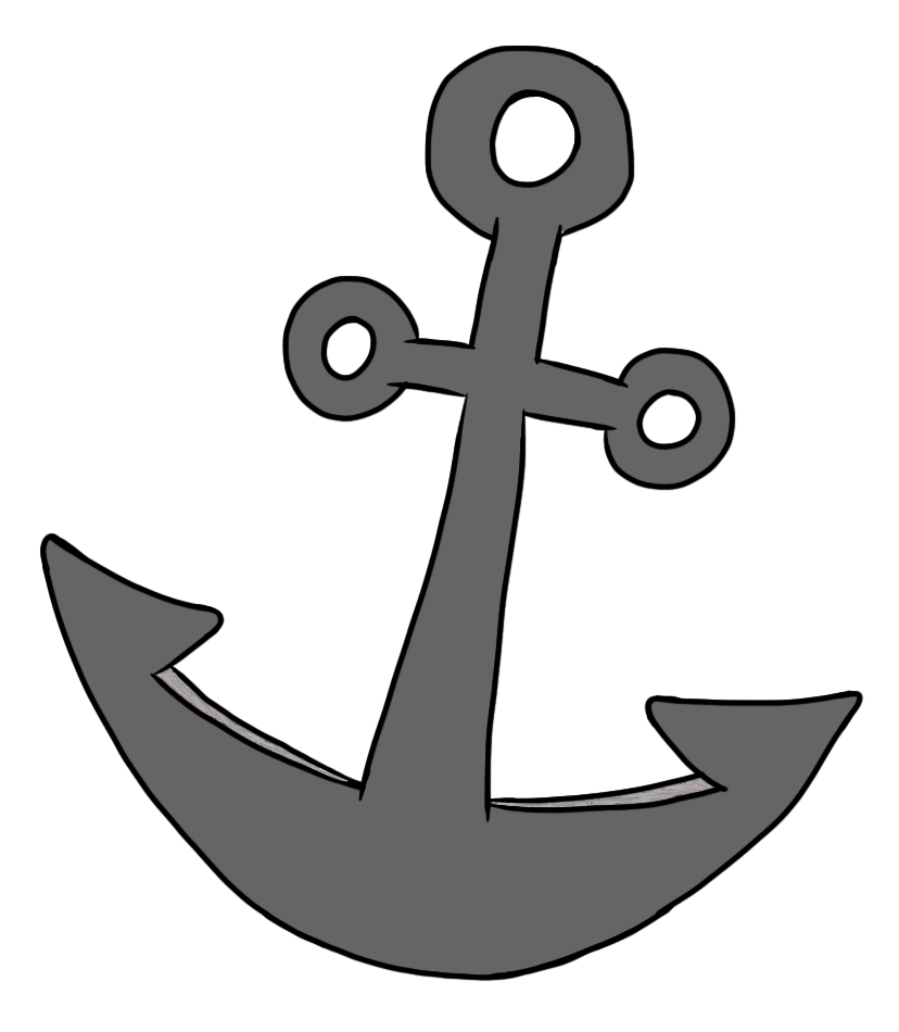 clipart freeuse library Simple Anchor Pirate Clipart