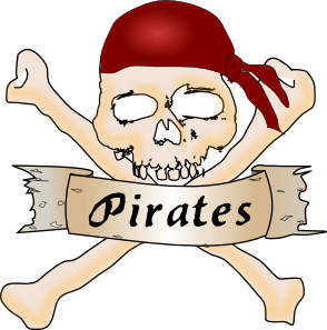 banner library library Pirates clipart. Pirate skull clip art