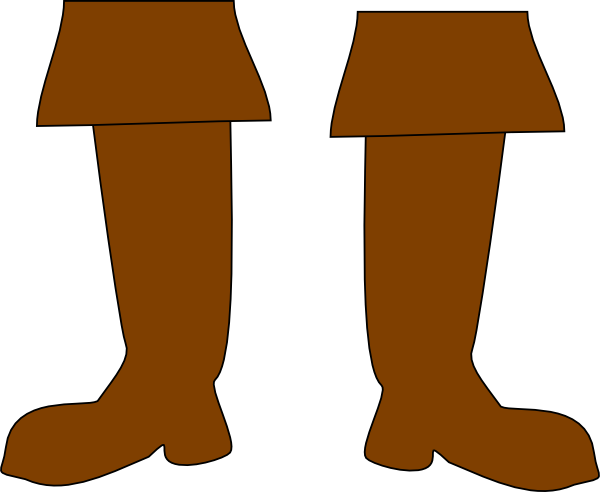 clipart black and white stock Brown Pirate Boots Clip Art at Clker