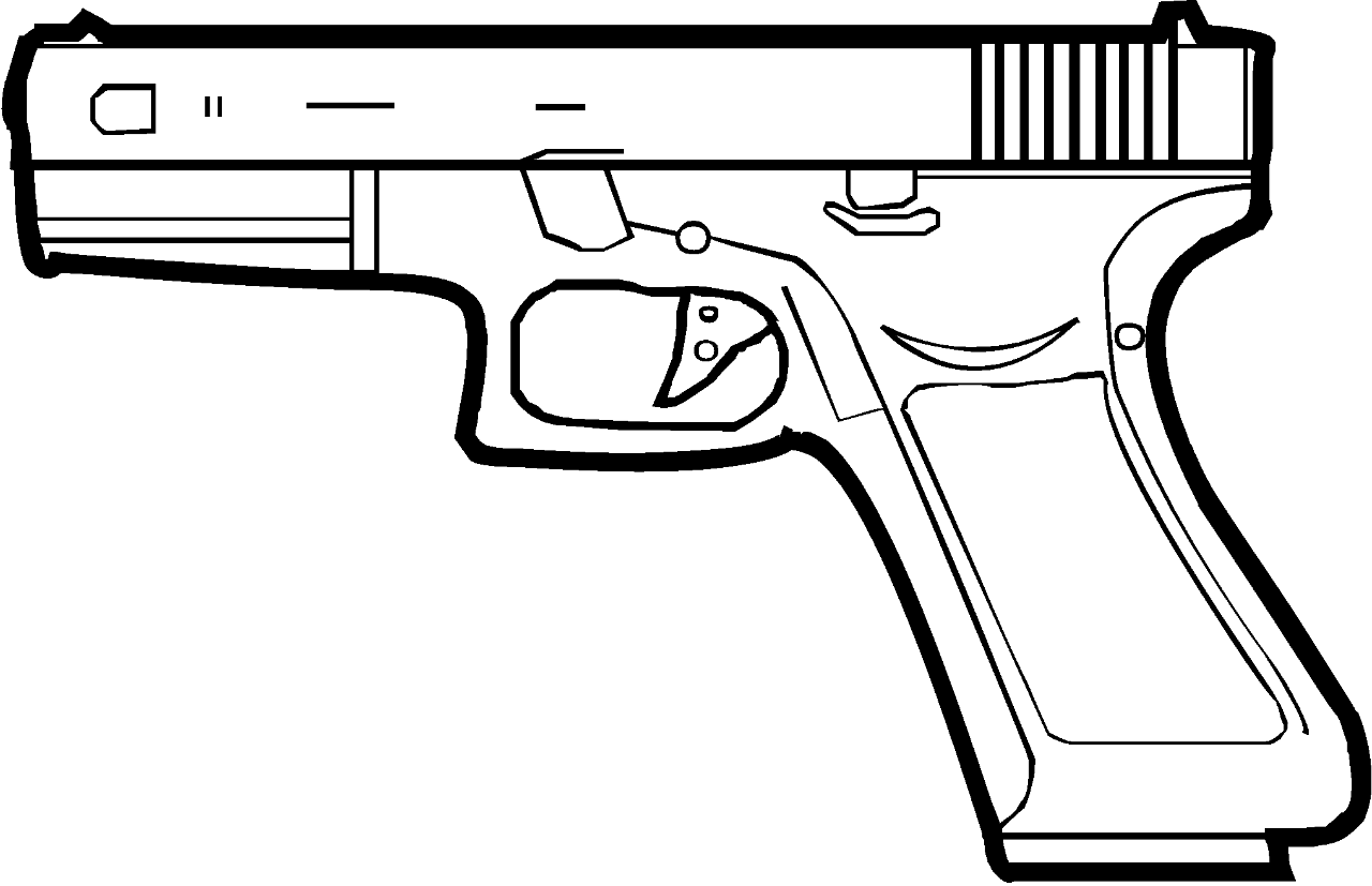 picture black and white Glock Drawing at GetDrawings