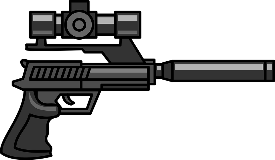 vector royalty free Animated Cliparts Gun