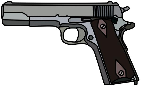 graphic transparent download Pistol Clipart