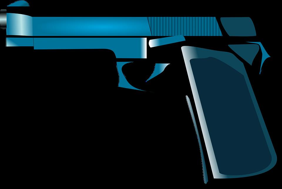 picture transparent library Handgun Clipart