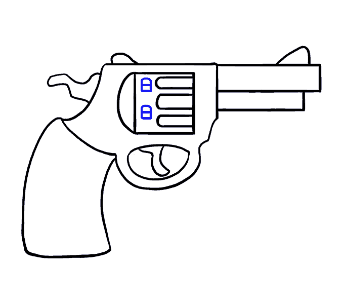 clip royalty free How to Draw a Cartoon Revolver in a Few Easy Steps