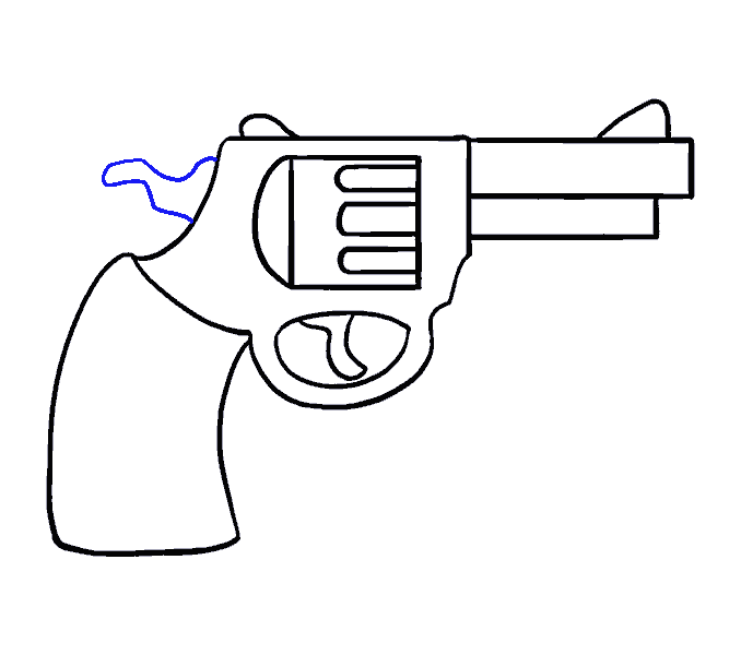 jpg freeuse download How to Draw a Cartoon Revolver in a Few Easy Steps