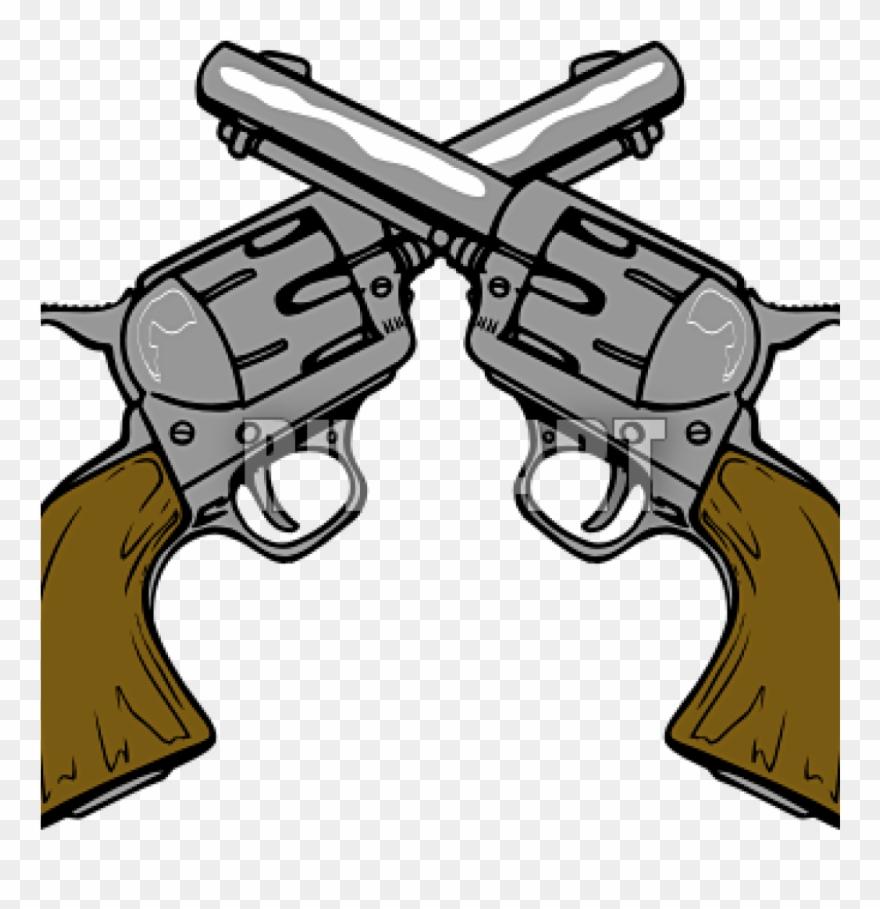 black and white Guns clip art cowboy. Western gun clipart