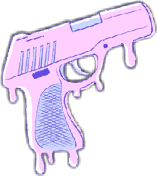 clip art black and white library gun pistol pink pastel kawaii