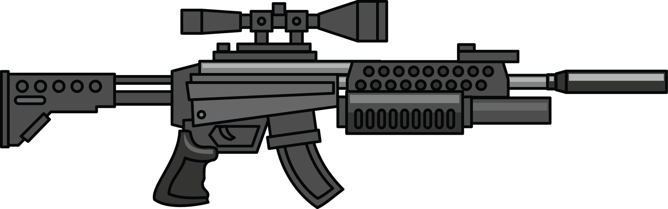 png freeuse library Pistol Clipart Machine Gun Free collection