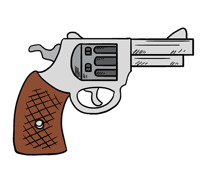 svg royalty free stock Pistol Clipart Drawn