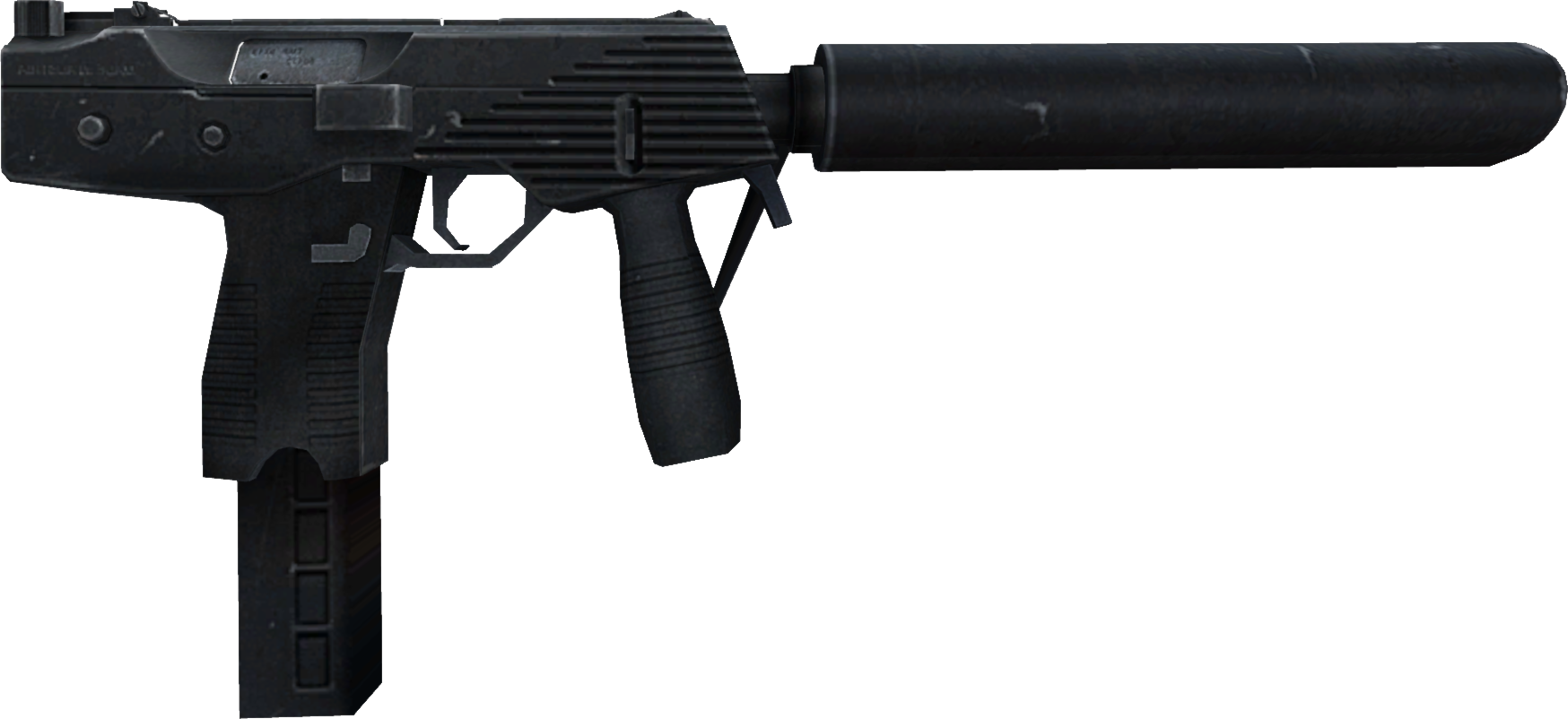 png black and white download Pistol clipart silenced