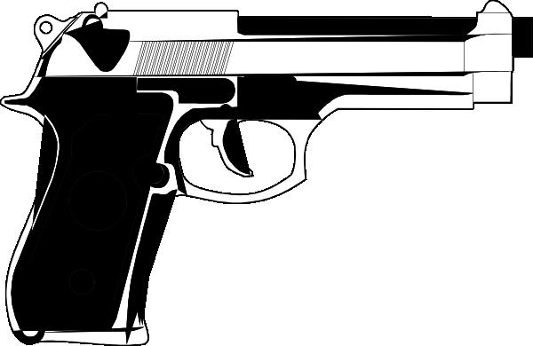transparent Generic Pistol Clip Art at Clker