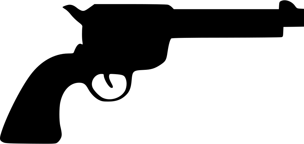 vector black and white library Revolver Colt Western Svg Png Icon Free Download