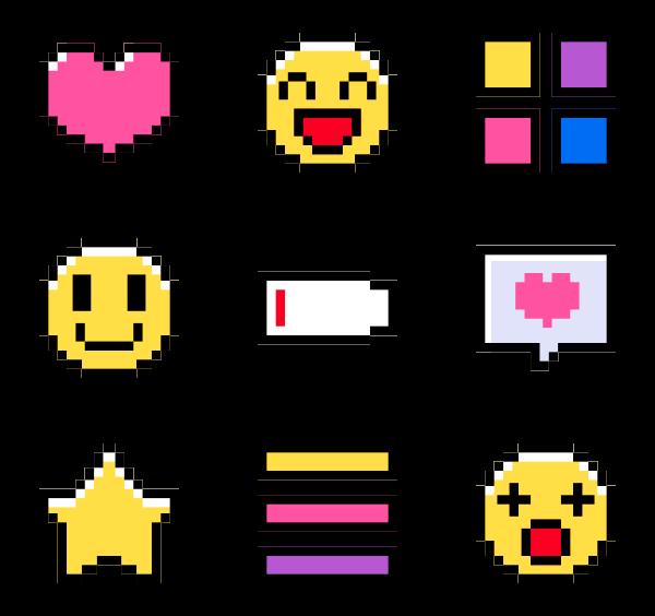image freeuse Pixel Icon Family
